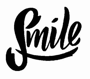 Smile Embroidered Iron On Patch - EH Patches