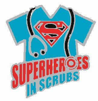 Superhereos in Scrubs Embroidered Patch - EH Patches