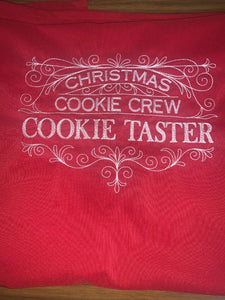 Christmas Cookie Crew Cookie Taster Red Apron - EH Patches