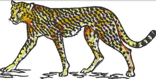 Cheetah Standing 7 Inch Embroider Patch - EH Patches