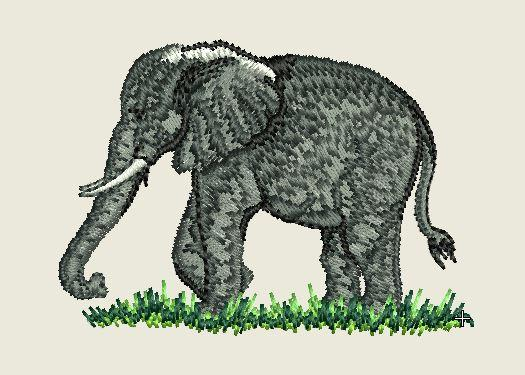 Elephant Embroider Iron On Patch - EH Patches