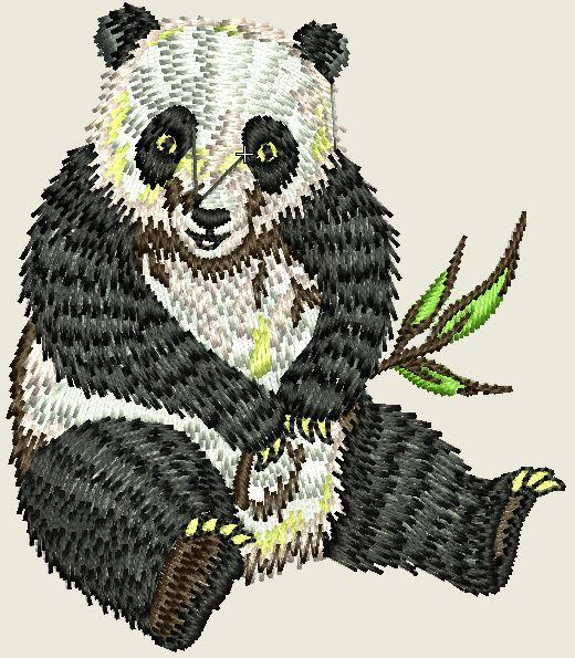 Panda Embroider Iron On Patch - EH Patches
