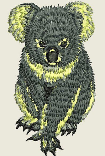 Koala 2 Embroider Iron On Patch - EH Patches