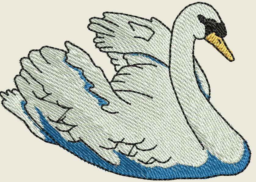 Graceful Swan Embroidered Patch - EH Patches