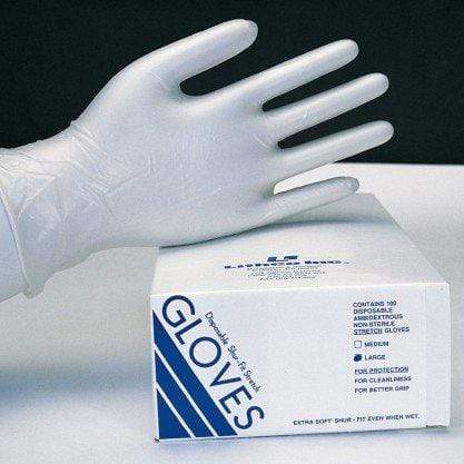 Shur-Fit Disposable Vinyl Gloves - Medium - 100 / Box