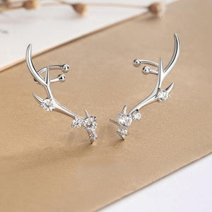 Exquisite Deer Crown Earrings