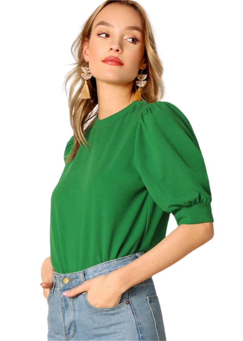 Power Puff Sleeves Top