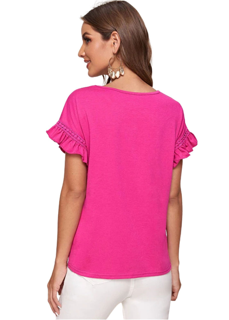 LUCY Butterfly Ruffles Top