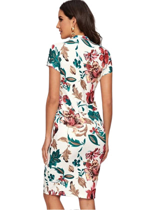 Another Date Bodycon Floral Dress