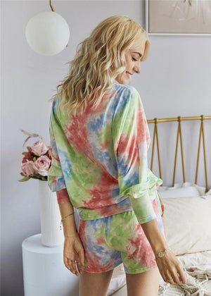 TRISHA Stylish Tie-Dye Home Wear Set