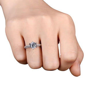 LUX 1.25ct Zirconia Solitaire Ring