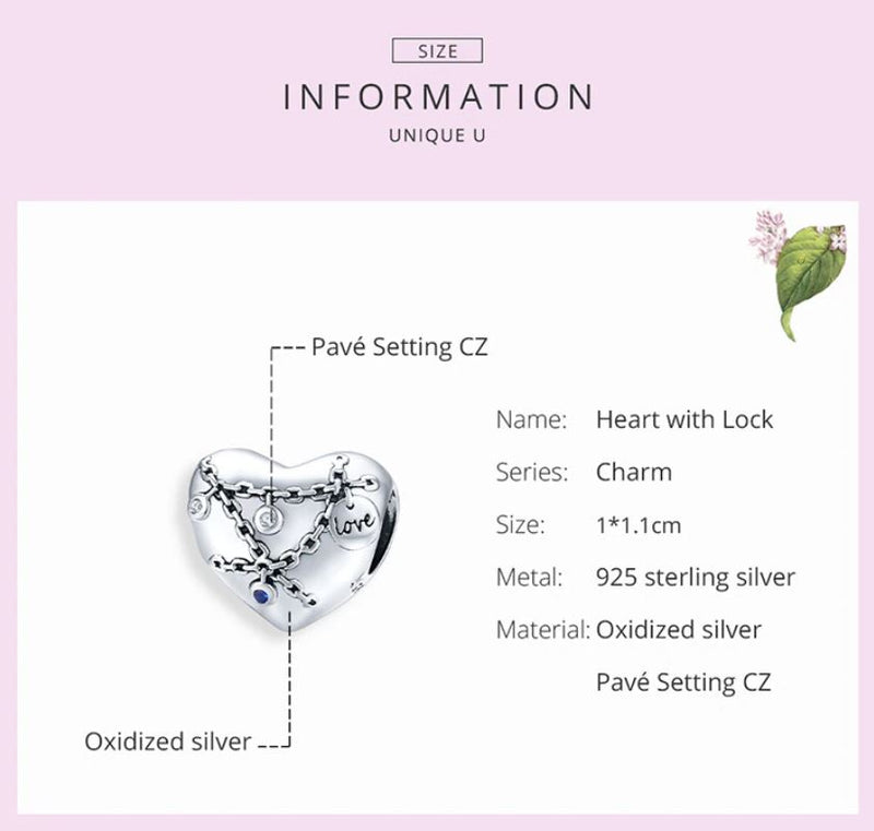 HEART WITH LOCK Charm
