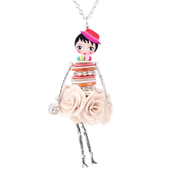 Handcrafted French Doll Necklace