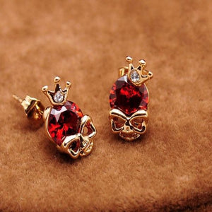 Crown Crystal King Stud Earrings