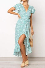 SKY Turquoise High Slit Maxi Dress