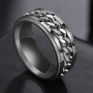Rotatable Chain Inlay Ring