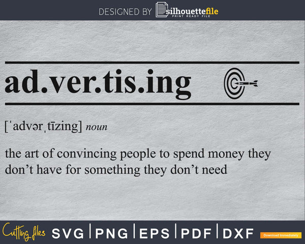 Advertising definition svg