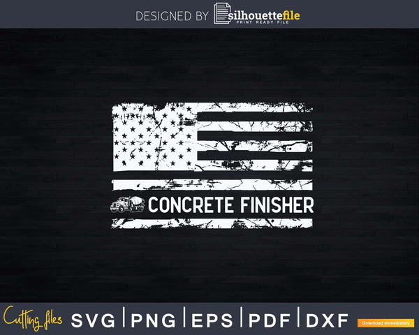 American Concrete Finisher US Flag 4th Of July Svg Cut Files