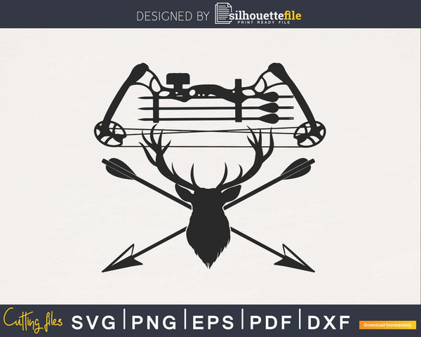 Archery Archer Bow Deer Hunting Hunt silhouette svg file
