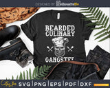 Bearded Culinary Gangster Vintage Cooking Guru Svg Design