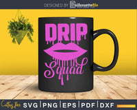 Birthday Drip SVG craft cut file for Cricut and Silhouette