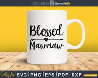 Blessed Mawmaw SVG PNG Cutting printable file