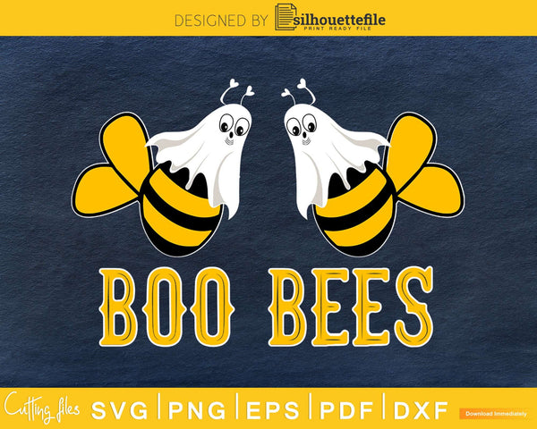 Boo Bees Ghost Couples Funny Halloween svg craft cut files