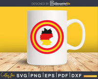 Captain Germany map flag Cool Superhero svg cricut digital