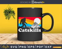 Catskills New York Retro Bigfoot Mountains Svg Designs