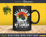 Coffee & Camera Funny Vintage Photography Svg Cricut Cut