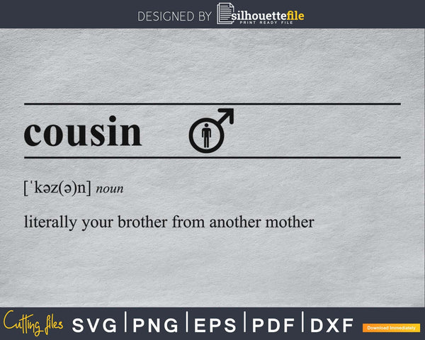 Cousin definition svg printable file