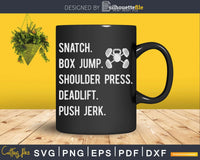 CrossFit Workout WOD Svg Instant Download Cut Files