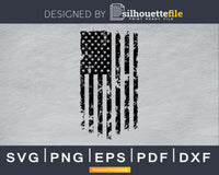 Distressed US Flag silhouette svg cricut digital files