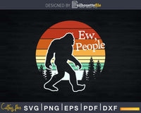 Ew People Bigfoot SVG PNG dxf designs Silhouette Cut Files