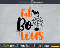 Fab Boo Lous Halloween cricut cutting svg craft cut files
