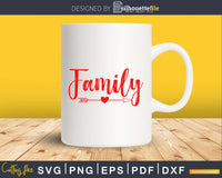 Family SVG PNG Cricut printable file