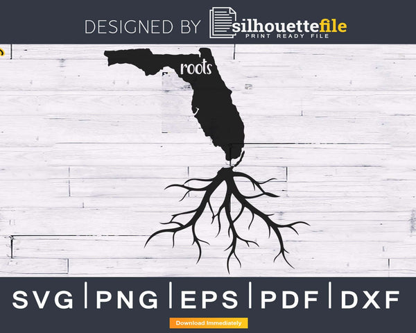Florida FL Roots Home Native Map silhouette svg cricut PNG