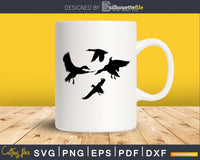 Flying Duck silhouette svg png digital cutting cricut files
