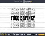 Free Britney svg dxf png cutting files t shirt design