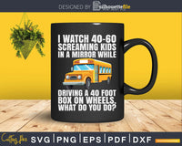 Funny Awesome School Bus Driver Shirt Design Svg Cut File