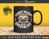 Funny Students Bus-Driver School Bus Drivers Svg Design Cut