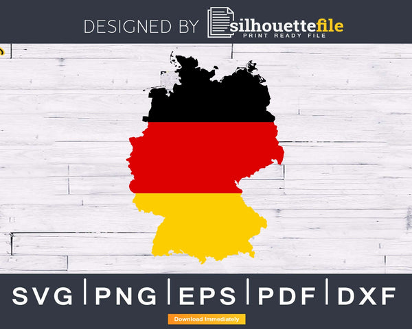 German Flag map Germany Day svg cricut png cutting