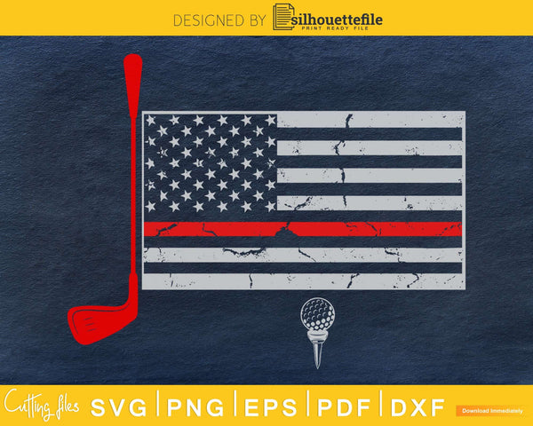 Golfing golfer golf Independence day Patriotic Distressed