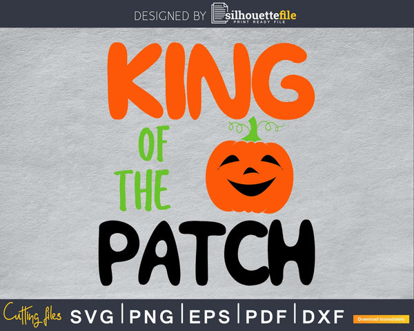 Halloween King of The Patch silhouette svg craft cut files