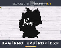 Home heart map native Germany svg cricut digital files