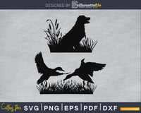 Hunting dog flying svg png silhouette cricut digital files
