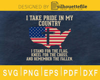 I take pride in my country US Map flag svg cricut cutting