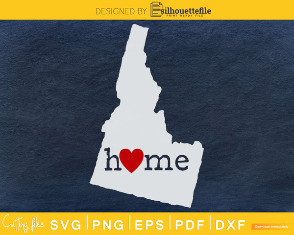 Idaho ID Home Heart Native Map svg cricut cut digital files