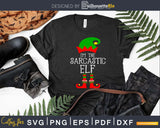 I'm the sarcastic elf svg dxf png craft cricut cutting file