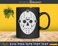 Jason Hockey Mask Flip Up Halloween silhouette svg craft cut